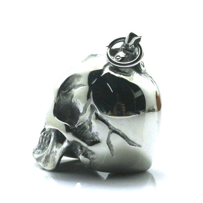316L Stainless Steel Cool Polishing Punk Gothic Skeleton Silver Pendant - Mirage Novelty World