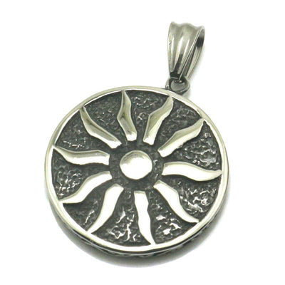 Mens Boys 316L Stainless Steel Punk Gothic Big Heavy Sun Vintage Pendant - Mirage Novelty World