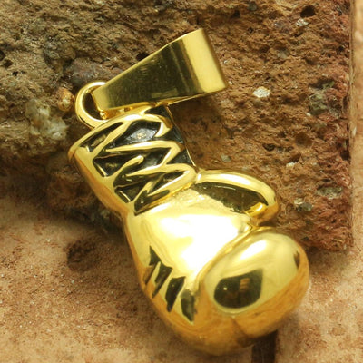 316L Stainless Steel Mini Golden Boxing Glove Pendant Cool Gift - Mirage Novelty World