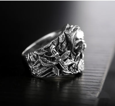 925 Sterling Silver Genuine Oriental Vibrations New Dragon Ring - Mirage Novelty World