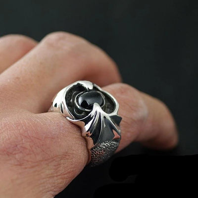 Thailand imports 925 sterling silver ring, star stone demon wings Silver Ring - Mirage Novelty World