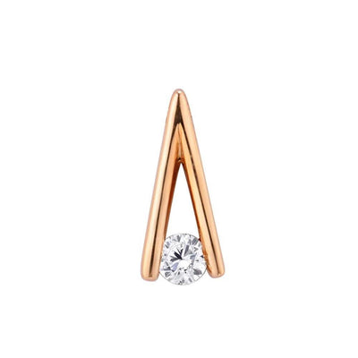 Gold Pendants For Women Genuine 14K 585 Rose Gold Sparkling Diamond Engagement Wedding Pendant Fine Jewelry - Mirage Novelty World