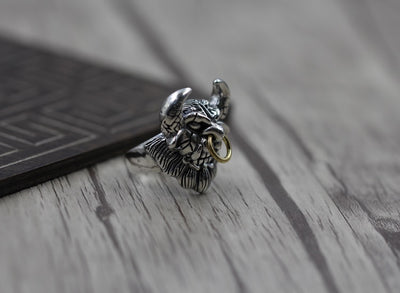 Do the old man to create personalized silver ring opening S925 Sterling Silver Ring retro domineering demon - Mirage Novelty World