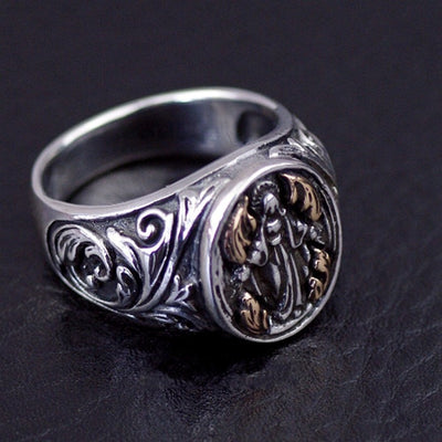 Imported from Thailand, Virgin Mary's retro Thai Silver Ring - Mirage Novelty World