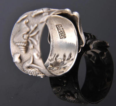 999 Silver Ring opening and retro antique handicraft ring - Mirage Novelty World