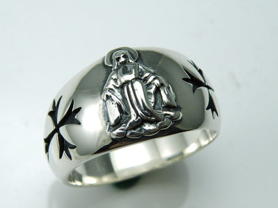 Thailand imports, the cross of 925 Sterling Silver Ring - Mirage Novelty World