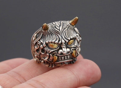 925silver  Personality with copper double wide Angle, the mythical wild animal domineering man version of fashion rings - Mirage Novelty World