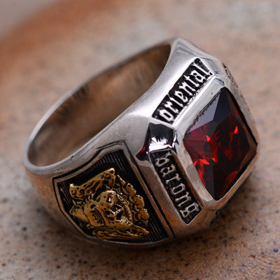 S925 sterling silver jewelry cut red crystal antique old Seiko - Mirage Novelty World