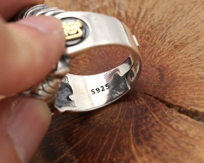 S925 silver jewelry silver ring opening a vintage men's personality between the ring finger - Mirage Novelty World