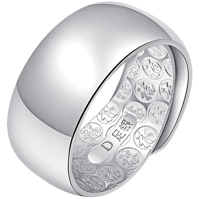 Thumb rings Wang Chunyin ring 990 smooth index alive Men exaggerated large fat silver personality - Mirage Novelty World