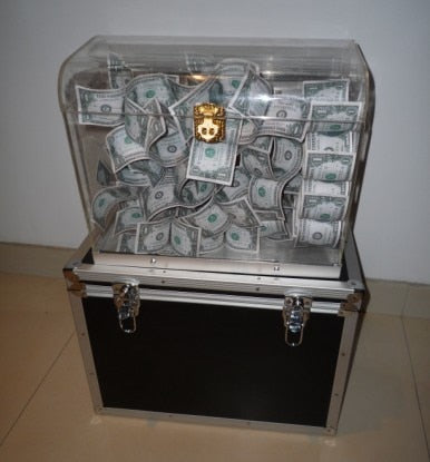 Crystal Money Chest Empty Box Appearing Money Goocheltrucs Professionele Close-Up Stage Magic Mentalism Cardistry Artifice - Mirage Novelty World