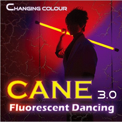 Color Changing Cane 3.0 Fluorescent Dancing (Professional Two Color) Easy Magic Accessories,Stage Mentalism Tricks - Mirage Novelty World