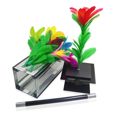 Clarity Box To Flower-Flower Magic,Small Glasses Box,Stage Magic Tricks,Magician Kits,Stage Magic Mentalism - Mirage Novelty World