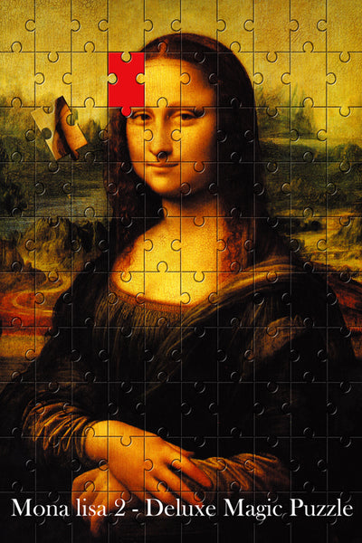 Mona Lisa 2 Magic Puzzle Stage Magic Tricks,Close Up Magicprops,Apprentice Illusion Magician,Magic Tricks For Professional Magic - Mirage Novelty World
