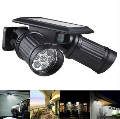 Double Solar Spotlight Outdoor lamp LED  Lighting Garden Light with motion detector
