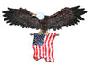 3D American Eagle Wall Sculptures, Patriotic Eagle Sculpture with National Flag Freedom's Pride Art Wall Decor (31 inch x 18 inc - Mirage Novelty World
