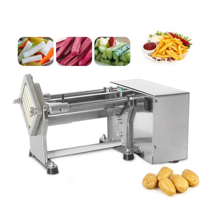Electric French Fries Cutter Potato Chip Carrot Cutter Slicer Stainless Steel Vegetable Fruit Shredding Machine