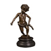 100% handmade cute kids bronze sculpture statues boy figurines art for home decoration - Mirage Novelty World
