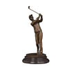 Table decoration bronze girl golfer statue sport sculpture for sale - Mirage Novelty World