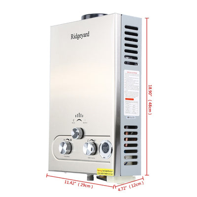 8L 16KW LPG Water Heater Propane Butane Instant Gas Boiler with Shower Head