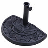 20-inch 20-lbs Semicircle Umbrella Base Heavy Stand Holder Fit for Half Patio Garden Umbrella Black - Mirage Novelty World