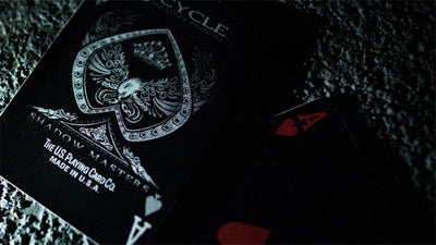 Shadow Masters Original Bicycle Shadow Playing Card Magic Trick Black Deck By Ellusionist Creative Poker Magic - Mirage Novelty World