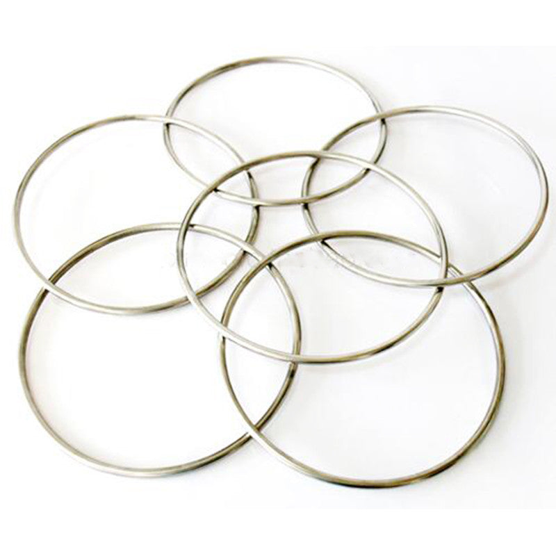 Chinese Linking Rings 6 Rings Set Magnetic Lock 30cm Chrome Stage Magic Tricks