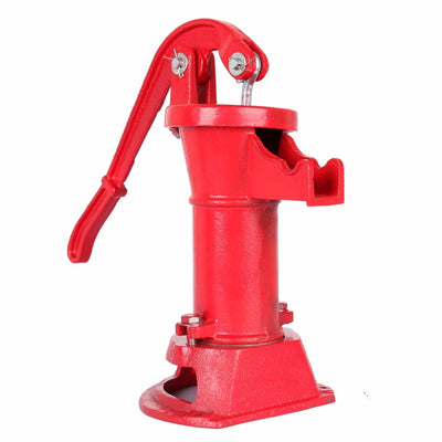 Hand Pump Cast Iron Well Water Pitcher Press Suction Outdoor Yard Ponds Garden