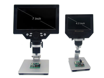 Big size G1200 Electronic Digital Microscope 12MP 7 Inch Large Base LCD Display 1-1200X Continuous Amplification Magnifier Tool