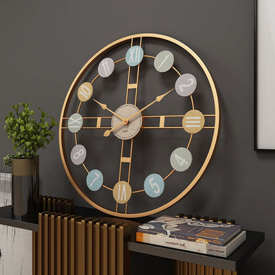 3D Hanging Clock 50cm Europe America Fashionable Style Iron Silent Wall Clock Absolutely Silent Bedroom Decor For Home Decor