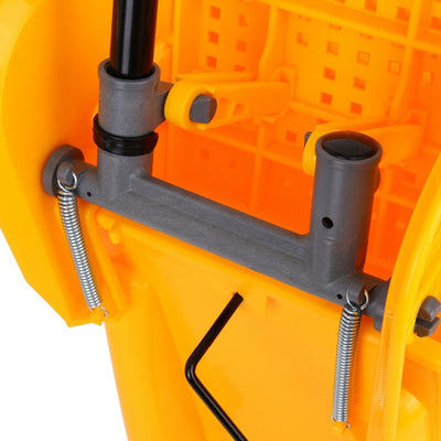20L Mini Mop Bucket with Wringer Combo Commercial Rolling Cleaning Cart Yellow