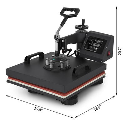 Heat Press Machine 12x15 inch 5in1 T-Shirt Heat Press and Vinyl Cutter 14 inch Plotter Machine 375mm Paper Feed