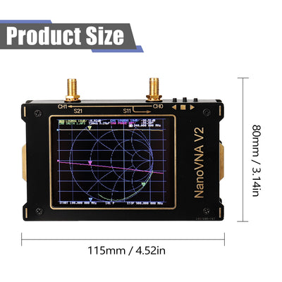 3G S-A-A-2 NanoVNA V2 Vector Network Analyzer Digital Nano VNA Tester MF HF VHF UHF USB Logic Antenna Analyzer Standing Wave - Mirage Novelty World