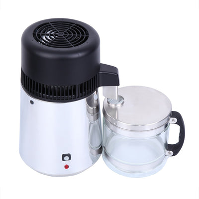4L 750W Water Distiller Stainless Steel Pure Water Purifier Filter with Jar 220V (Ship from EU)