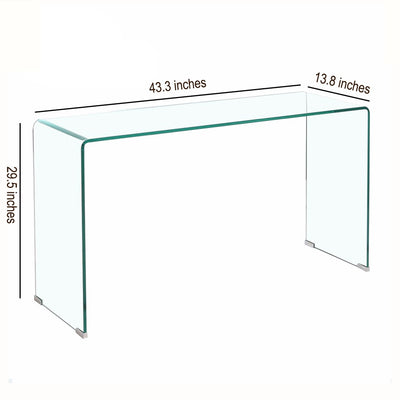Tempered Glass  Simple Nordic Coffee Table Economy High Table Creative Coffee Table Easy To Install Living Room Mini Modern Side - Mirage Novelty World