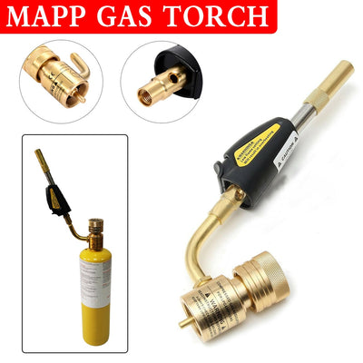 MAPP Propane Gas Welding Torches Self Ignition Trigger Brass Turbo Torch Brazing Solder Plumbing Blow Torch Soldering Tool - Mirage Novelty World