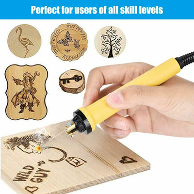 Wood Burner Adjustable Temperature Digital Display Pyrography Machine Pyrography Pen Burning Machine Gourd Crafts Tool Set - Mirage Novelty World