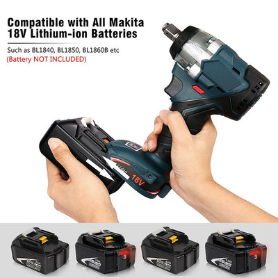 18V Electric Brushless Impact Wrench Cordless 1/2 Socket Wrench Rechargeable Power Tool Screwdriver for Makita Battery DTW285 - Mirage Novelty World