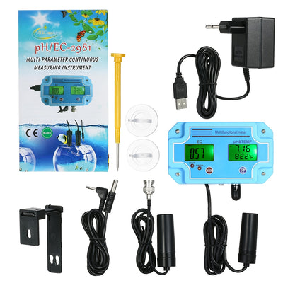 3 in 1 pH Meter Digital EC/TEMP Tester Water Quality Meter Monitor Multi-parameter LCD Water Detector Water Quality Tester - Mirage Novelty World
