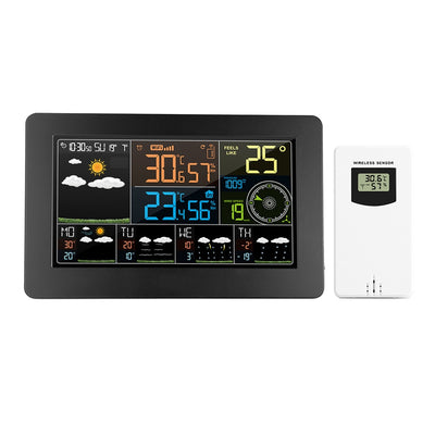WiFi Smart Weather Monitor Temperature Humidity Barometric Wind Speed Digital Clock Functions thermometer with Outdoor Sensor - Mirage Novelty World