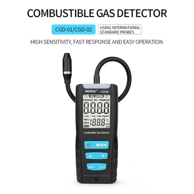 MESTEK Gas Analyzer Meter Automotive Combustible Gas Sensor Detector Air Quality Monitor Leak Detectors with Alarm CO Monitor - Mirage Novelty World
