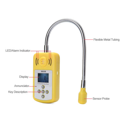Portable Gas Analyzer Professional Combustible Air Detector Gas Leak Location Determine Tester with LCD Screen Sound-light Alarm - Mirage Novelty World