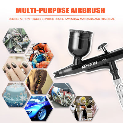 Multi-Purpose Gravitation Feed Dual-Action Airbrush Kit Set 0.3mm Trigger Spray Machine for Art Craft Paint Spraying Air Brush - Mirage Novelty World