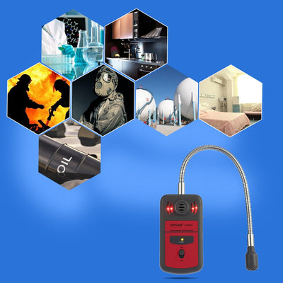 LCD Digital Combustible Gas Analyzer Automotive Gas Leak Location Determine Tester Gas Detector with Sound Light Alarm - Mirage Novelty World