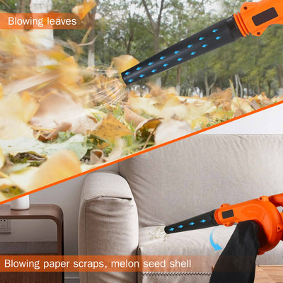Cordless Leaf Blower Vacuum 21V 4.0 Ah Lithium Battery Powered Electric 2 in 1 Sweeper & Vacuum for Clearing Dust Leaf Snow - Mirage Novelty World