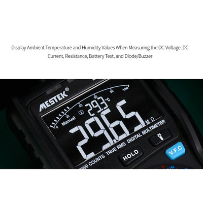 Black MESTEK 10000 Counts True RMS Multifunctional Digital Multimeter Measuring AC/DC  Multimeters for Voltage Current Measuring - Mirage Novelty World