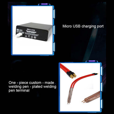 Spot Welding Machine With outshell Spot Welder Portable DIY Mini Spot Welding Machine with Quick-release Pens & 2 Battery - Mirage Novelty World
