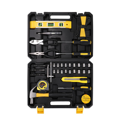 78pcs Household Combination Tool Set Hardware Tool Box Hand Tools Screwdriver Kit Wrench Pliers 3.0m Tape Measure Utility Cutter
