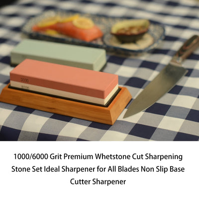 Ktchen Knives Sharpener Premium Whetstone Cut Sharpening Stone Ideal Knife Sharpener With Non Slip Base Grit Sharpening Stone