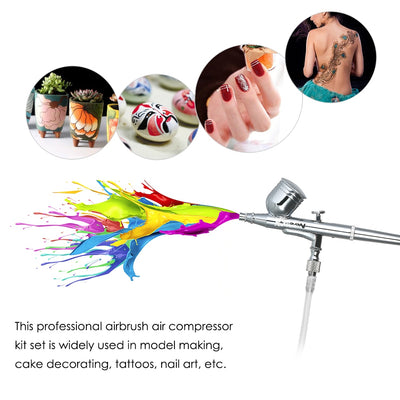 Dual Action Makeup Airbrush Compressor Kit 12V Air Brush Spray Gun For Art Painting Manicure Craft Model AirBrush Nail Tool Set - Mirage Novelty World